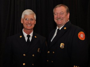 Assistant Fire Chief Jim Anderson (left) and Fire Chief Mark Emert / Photo by Rick Owens