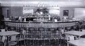 The bar, circa the 1950's, in the building currently known as Horseshoe Restaurant and Lounge / Photo courtesy of Neal Strebel