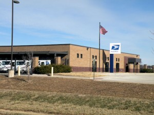 1610 Eastport Plaza Drive. The current U.S. Postal Service carrier annex will house Collinsville post office operations beginning Feb. 3. The front of the building has been remodeled to accommodate post office boxes and retail services / Photo by Roger Starkey