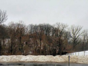 Snow removed from Main Street, Collinsville / Photo by Roger Starkey