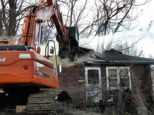 200 Angle St., Collinsville during demolition / Photo by Roger Starkey