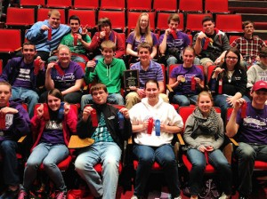Members of the Collinsville High School math team / Submitted photo