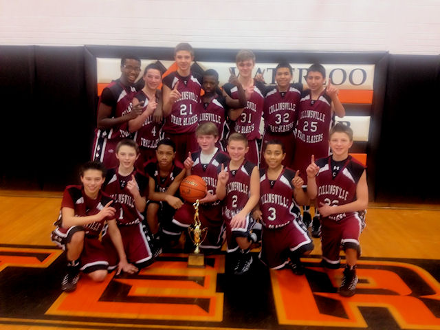 Collinsville Middle School boys basketball team headed to State « The Metro Independent
