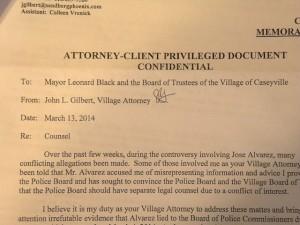 Caseyville leak letter