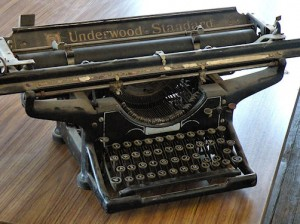 Typewriter / Photo by Roger Starkey