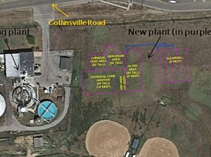 Location of new Collinsville Water Plant