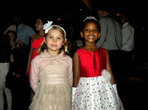 Margot Schusky (left) and Amari Edwards at CARD's Daddy Daughter Date Night 2014 / Photo by Roger Starkey