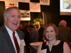 Congressman John Shimkus and Collinsville Director of Economic Development/TIF Erika Kennett / Photo by Alene Hill