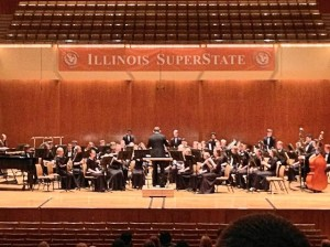 The Collinsville Wind Ensemble playing at the 2013 Illinois SuperState Concert Band Festival