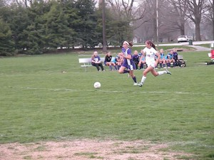 Emily Holten in a game earlier this season / Photo by Roger Starkey