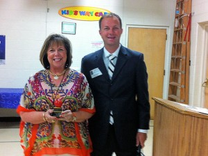 May Unit 10 Teacher of the Month Kathy Pitzer with Rick Kincheloe of Edward Jones / submitted photo