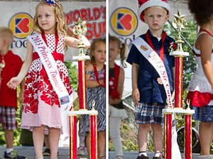 2013 Princess Tomato Kassidy Gray (6) of Collinsville and 2013 Sir Catsup Freddie Dean Garris III (3) of Jerseyville, Ill. / Submitted photo