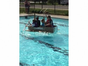 STEM Cardboard Boat Race participants / Submitted photo