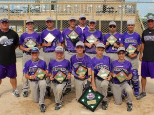 The 2014 Collinsville Extreme 13U baseball team / Submitted photo Front (left to right): Cameron Hibbets, Hayden Juenger, Logan Presley, Justin Sheldon, Joe Copeland Back row:  Coach Shannon Juenger, Eli Jacobs, Ethan Gratton, Matthew Albritton, Coach Matt Jacobs, Devon Bovinett, Gavin Lyday, Sam Scott, Head-Coach Shane Lyday