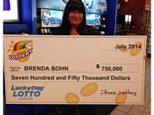 Brenda Bohn of Collinsville won the July 19, 2014 Lucky Day Lotto. Bohn bought her ticket in Collinsville