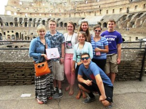 Members of the Collinsville High School Latin Club on their 2014 trip / Submitted photo