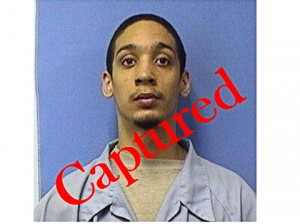 Prison escapee Marcus Battice was captured Sept. 24 at 7:30 a.m.