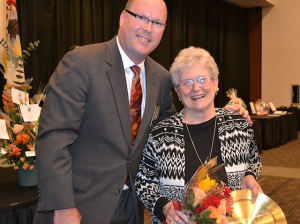 Lois Metzger after receiving the 2014 Collinsville Spirit of Excellence Award / Submitted photo
