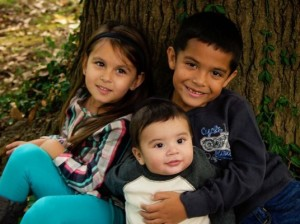 The Oseguera children. Gavino, 7 months, Lilian,  4 years old and Gerardo Jr, 6 years old