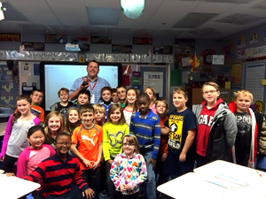 Steve Blind, Collinsville Unit 10 October Teacher of the Month and his students at Maryville Elementary / Submitted photo