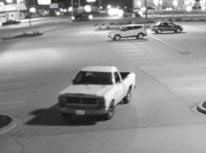White truck used by Collinsville Aldi purse snatcher