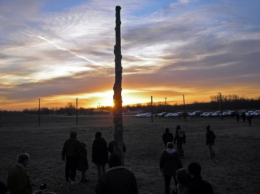 Dawn breaks over Woodhenge at Cahokia Mounds / submitted photo