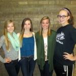 Left to right: Hanna Liljegren, Ashley Burgess, Caydren Jones, and Kassidy Smith