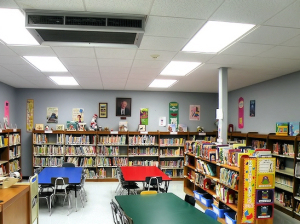 The Kreitner Elementary School Library / Photo by Roger Starkey